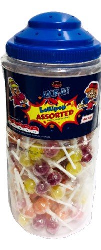 LICK04 LICK-IT ASSORTED LOLLIPOP x150